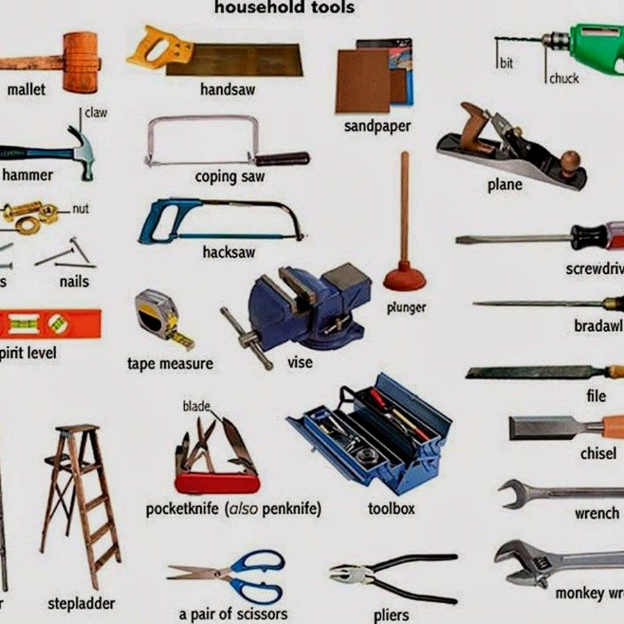 11 List of Household Woodworking Tools / Equipments That You Must Have At Home